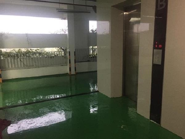 Dân chung cư khốn khổ vì thấm dột do bão số 9