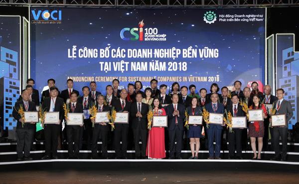 Dược phẩm Tâm Bình vào Top 100 doanh nghiệp bền vững 2018