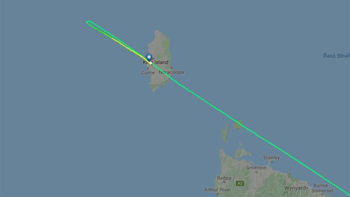 Máy bay đã di chuyển quá đích 46km trước khi vòng lại. Ảnh: Flight Radar
