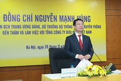 Toàn văn phát biểu của Bộ trưởng Nguyễn Mạnh Hùng tại buổi làm việc với VNPost