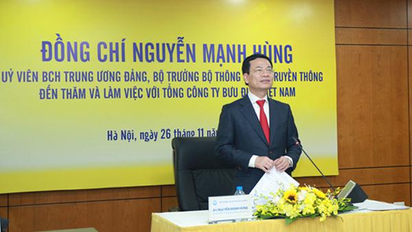 Bộ trưởng Nguyễn Mạnh Hùng,Bưu chính,Thương mại điện tử,VNPost,Thông tin Truyền thông