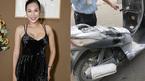 Khánh Ngọc hoảng hốt vì xe máy trăm triệu bốc cháy trong tầng hầm