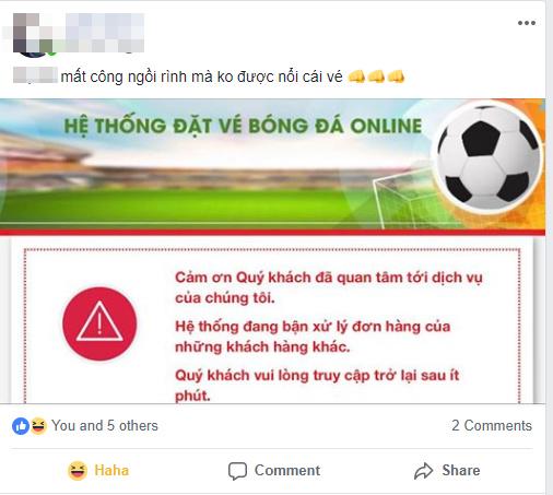 Dân mạng sốt hầm hập với việc đặt vé Việt Nam vs Philippines