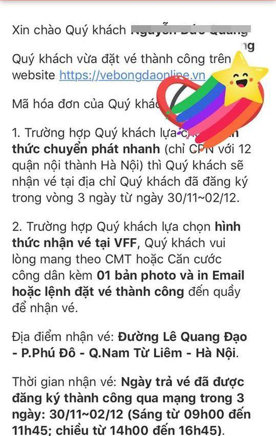 VFF bán hết vé xem Việt Nam vs Philippines qua mạng