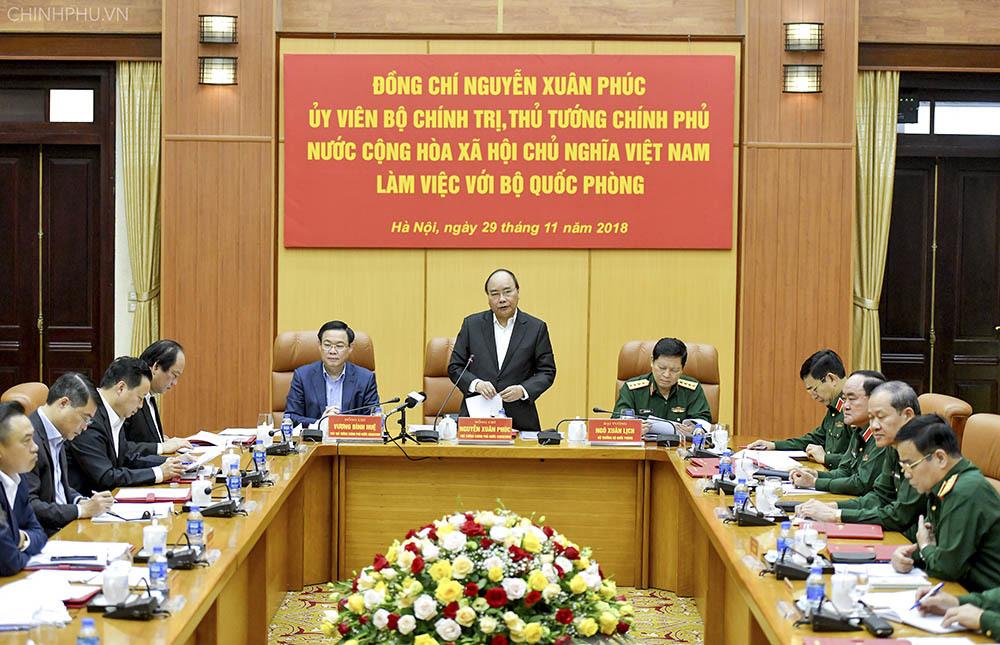 Thủ tướng yêu cầu Quân đội phải ra sức đề cao cảnh giác