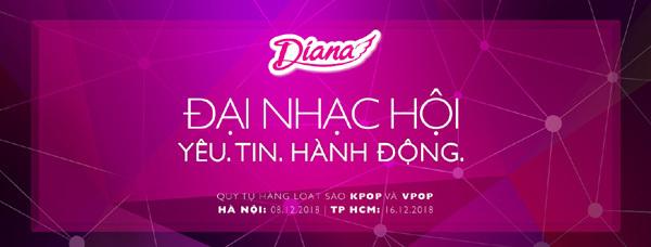 Diana tổ chức đại nhạc hội 'Yêu.Tin.Hành động'