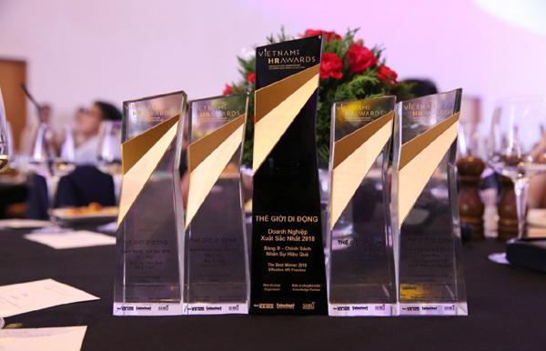 Thế Giới Di Động nhận 5 giải thưởng Vietnam HR Awards 2018