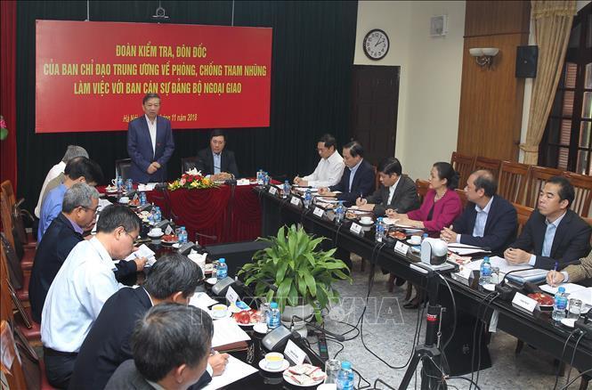 Tô Lâm,Bộ trưởng Tô Lâm,chống tham nhũng,tham nhũng,bộ Ngoại giao