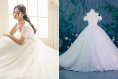 Váy cưới đính 10.000 viên pha lê của Á hậu Thanh Tú