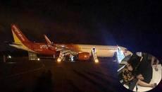 Máy bay Vietjet Air gặp sự cố, hành khách ra ngoài bằng cửa thoát hiểm