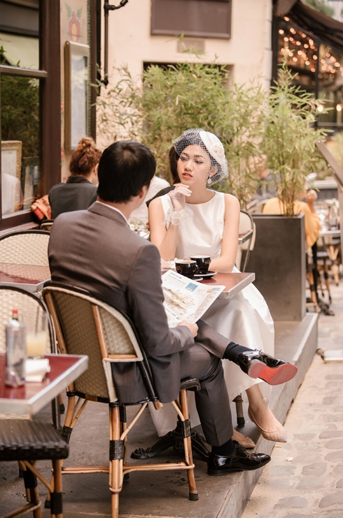 Ảnh cưới tại Paris của Á hậu Thanh Tú và đại gia hơn 16 tuổi - ảnh 9