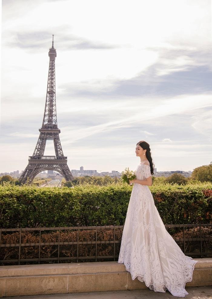 Ảnh cưới tại Paris của Á hậu Thanh Tú và đại gia hơn 16 tuổi - ảnh 8