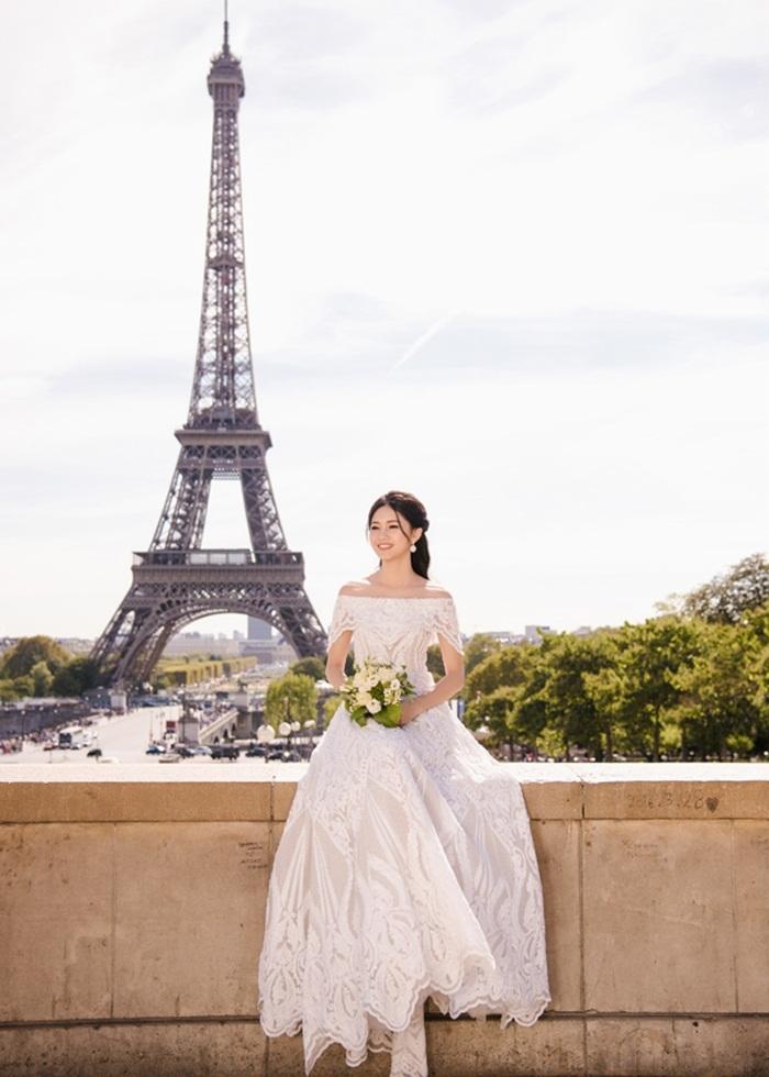 Ảnh cưới tại Paris của Á hậu Thanh Tú và đại gia hơn 16 tuổi - ảnh 7