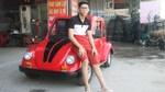 Học sinh lớp 11 chế ô tô điện chạy khắp làng ở Nam Định