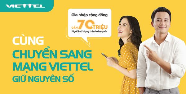 Viettel đến tận nhà hỗ trợ khách hàng chuyển mạng giữ số