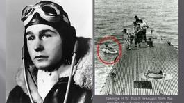 Khoảnh khắc Bush 'cha'' được cứu từ dưới biển