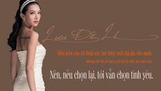 Lưu Đê Li: Sau búa rìu dư luận, tôi vẫn chọn tình yêu