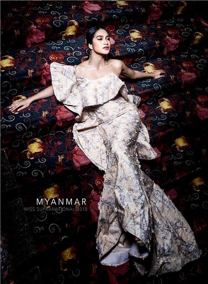 Minh Tú khoe nội y ở Hoa hậu Siêu quốc gia 2018
