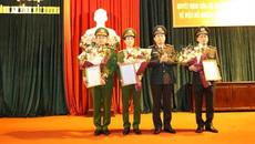 3 Phó giám đốc Công an tỉnh được bổ nhiệm công việc mới
