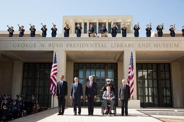 Cận cảnh nơi an nghỉ nguy nga của Bush 'cha'
