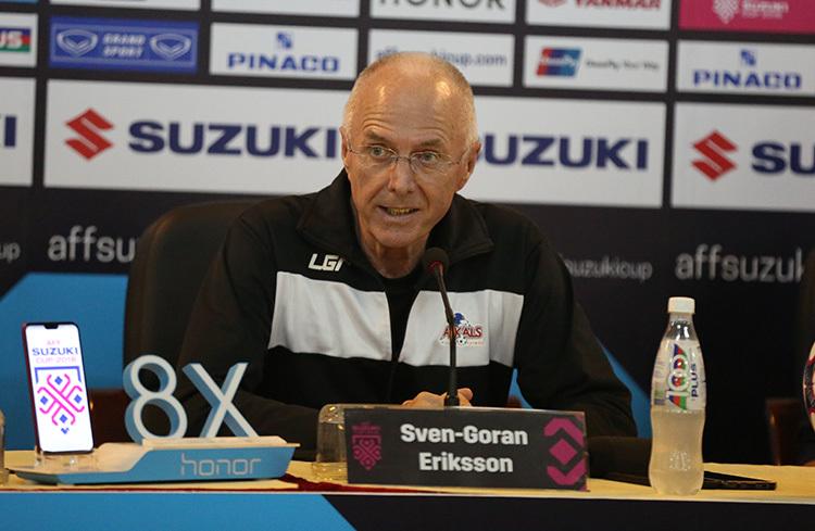 HLV Eriksson tuyên bố chơi tấn công, thắng Việt Nam 2-0