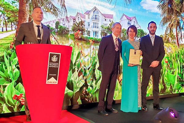 Vinhomes Riverside nhận giải bất động sản tốt nhất thế giới