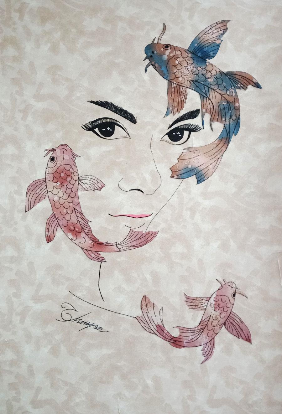 Chiêm ngưỡng những bức tranh ghép từ vải độc đáo