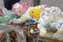 Hà Nội: Xót xa bé trai 4 tháng bị bỏ rơi trong thùng rác