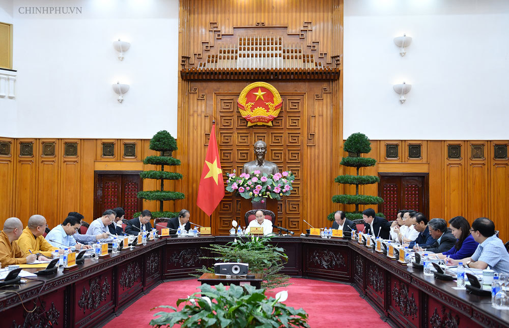 Thủ tướng chủ trì họp về công tác tổ chức Đại lễ Vesak 2019