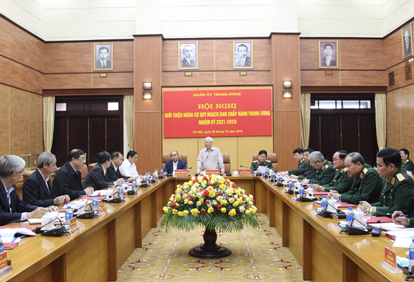 Giới thiệu nhân sự Quân đội quy hoạch Ban chấp hành TƯ