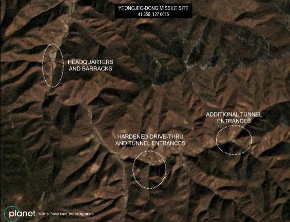 Triều Tiên,Mỹ,ảnh vệ tinh,căn cứ tên lửa