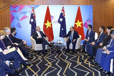 Thủ tướng gặp một số lãnh đạo đối tác của ASEAN