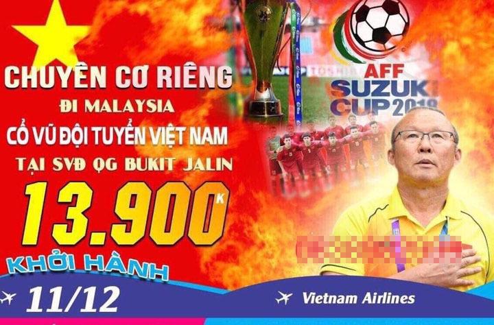 tour xem bóng đá,tour cổ vũ bóng đá,cổ động viên,tuyển Việt Nam,AFF Suzuki Cup 2018