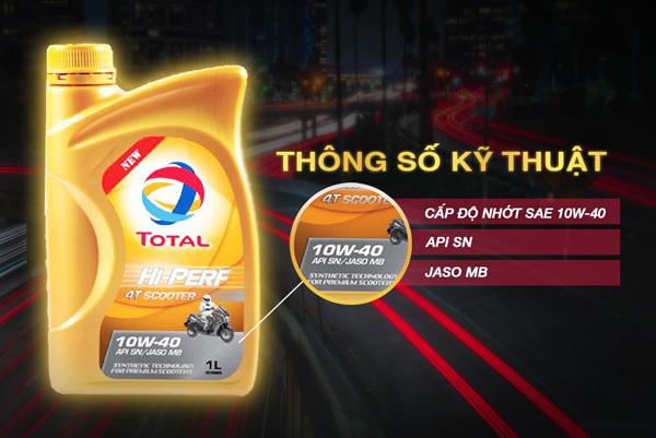 Tính năng vượt trội của dầu nhớt xe tay ga Total mới