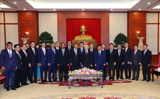 Tổng bí thư, Chủ tịch nước Nguyễn Phú Trọng tiếp Thủ tướng Hun Sen