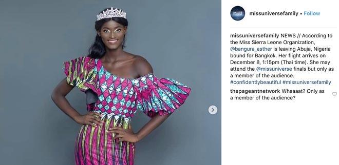 Hoa hậu Hoàn vũ gây xôn xao vì thông tin 1 người đẹp mất tích