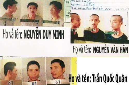 3 đối tượng nguy hiểm đào tường trốn trại giam công an bị bắt