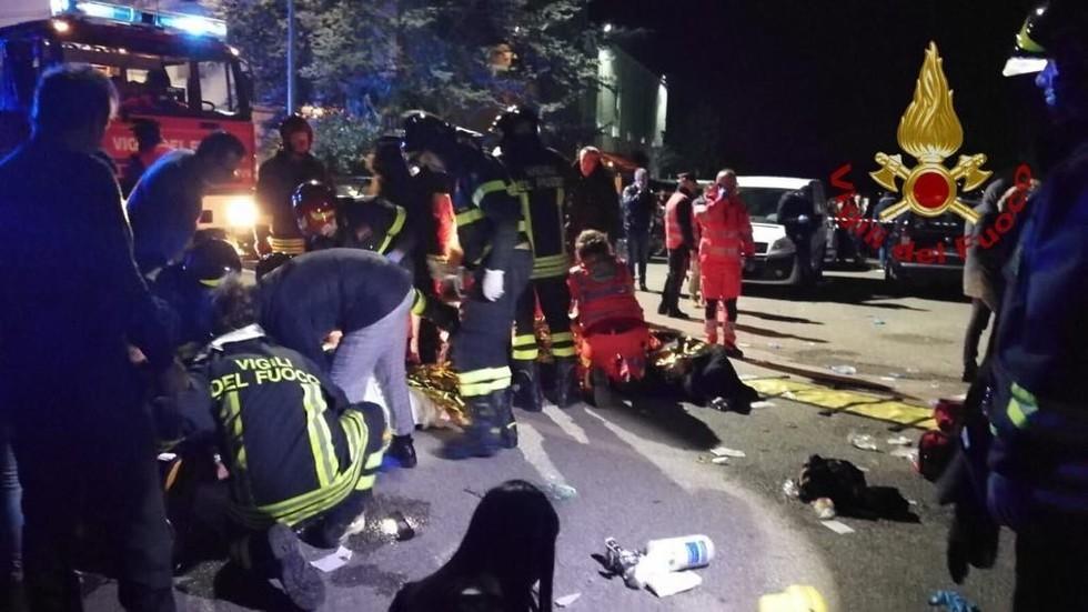 Giẫm đạp tại câu lạc bộ đêm ở Italia, 6 người chết