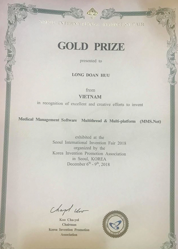 Phần mềm y tế thông minh của Việt Nam đạt giải vàng quốc tế