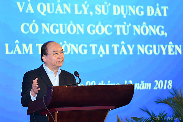 Tây Nguyên,di dân,Thủ tướng,Nguyễn Xuân Phúc