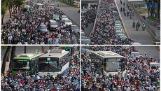 Cửa ngõ sân bay Tân Sơn Nhất kẹt xe cứng ngắc