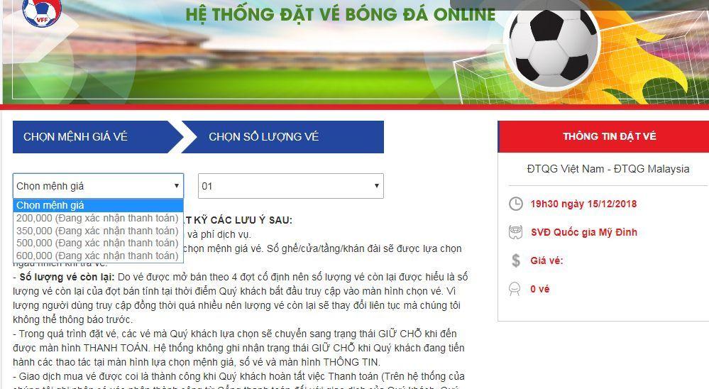 VFF bán hết 5.000 vé xem chung kết Việt Nam vs Malaysia