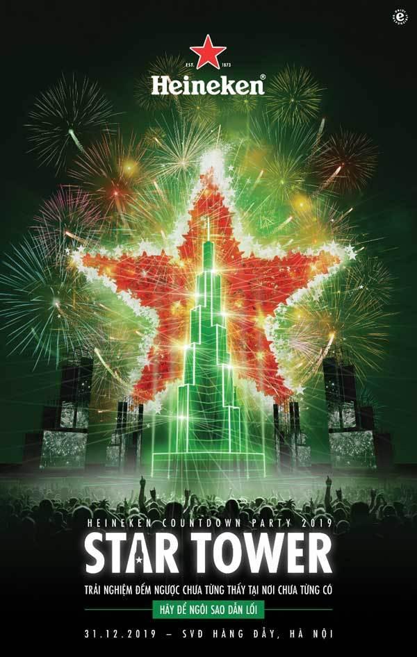 Heineken Countdown Party 'Chưa từng có' tại nơi 'Chưa từng thấy'