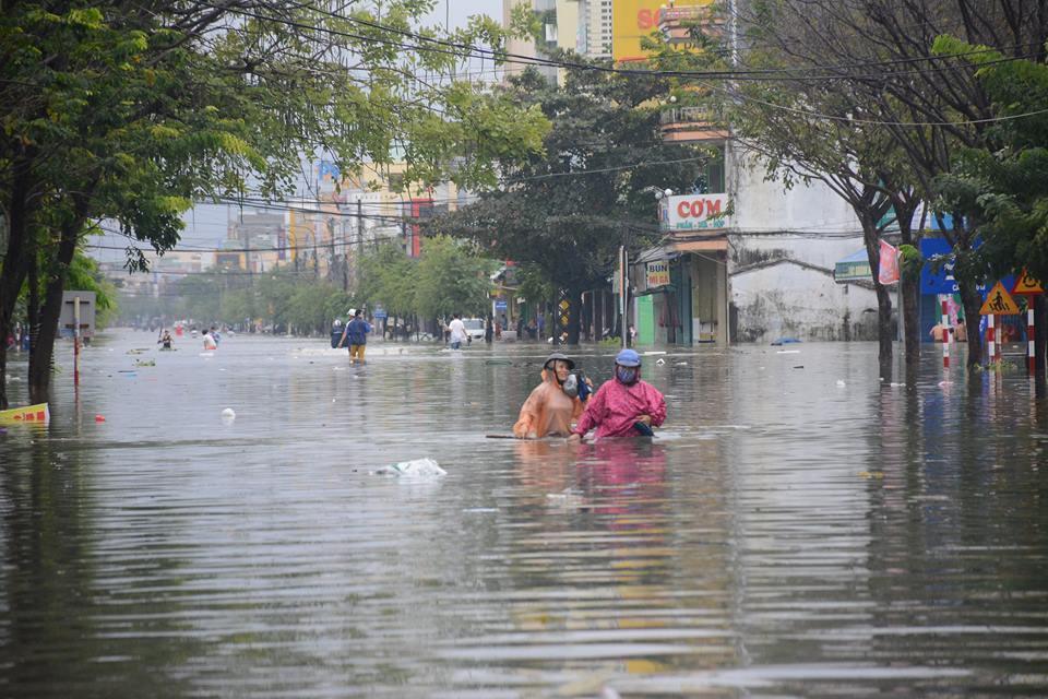 Ngập lụt,Đà Nẵng,mưa lớn,miền Trung