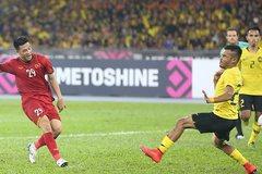 Bàn thắng mở tỷ số của Huy Hùng vào lưới Malaysia