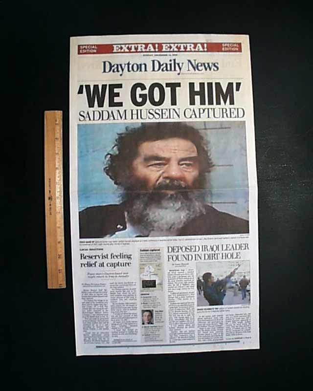 Ngày này năm xưa,bắt giữ,Saddam Hussein