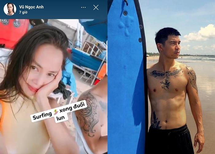 Vũ Ngọc Anh bị nghi vấn đi biển cùng Cường Seven ở Indonesia