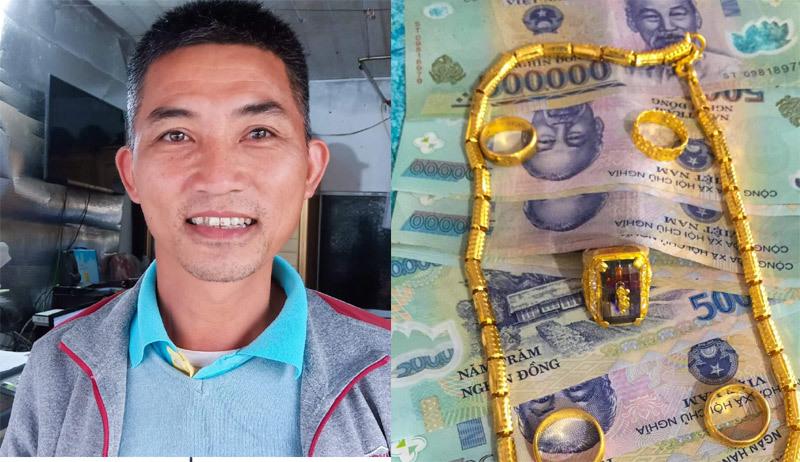 Thầy giáo nghèo thuê xe ôm tìm người đánh rơi để trả lại số tiền lớn