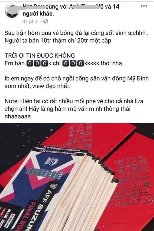 Tuyển Việt Nam,Vé xem Việt Nam vs Malaysia,Chung kết AFF Cup