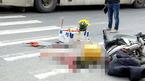 Hà Nội: Nam thanh niên bị xe khách cán chết khi dừng đèn đỏ